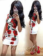 Женское красивое платье с цветами (4 цвета), фото 1