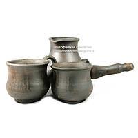 Кофейный набор турка 300мл чашки 2*100мл керамические ручной работы 9319
