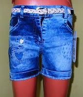 Шорты джинсовые детские девочка 4-5 лет