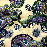 Ткань коттон набивной легкий (Восточный рисунок), фото 4