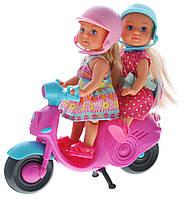 Куклы Еви Веселое путешествие на скутере Scooter Fun Evi Simba 5730485, фото 1