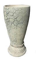 Декоративная скульптура-горшок Лотос. Высота 72 см. Горшки садовые