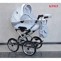 Универсальная коляска 2 в1 Kajtex Fashion KF015,надувные колеса, (эко-кожа) без дождевика