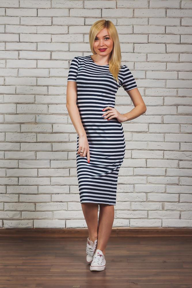 33f16303037 Платье-футляр летнее в полоску  продажа