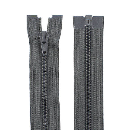 Молния YKK пластик 50 см тип 5, цвет 182-серый, фото 2