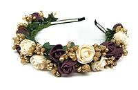 Обруч женский на голову с розами