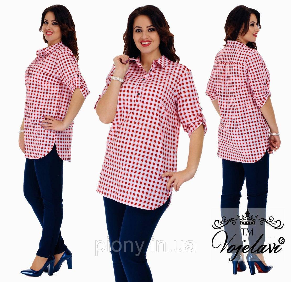 c37be5e5fce Женская Рубашка в клетку БАТАЛ  продажа