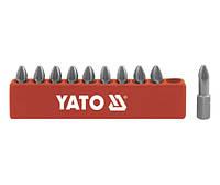 Набор бит Yato 10 штук WP3*25 YT-0472