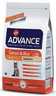 Advance Cat Adult Sensitive Salmon 15кг- корм для взрослых котов с лососем и рисом