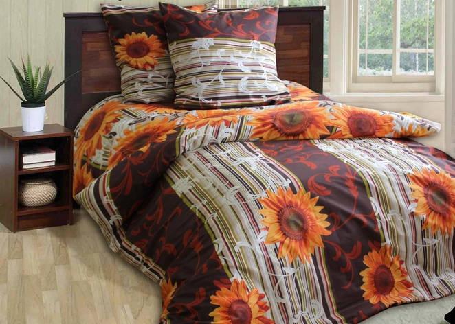 Двуспальное постельное белье Подсолнухи, фото 2