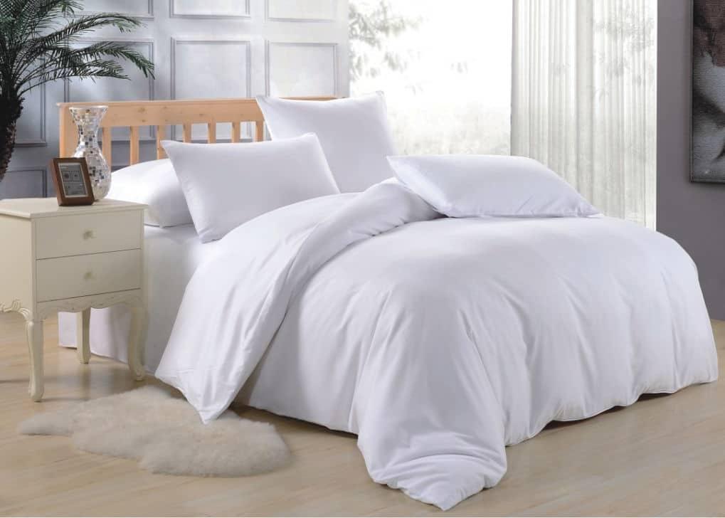 Двуспальное постельное белье Белое