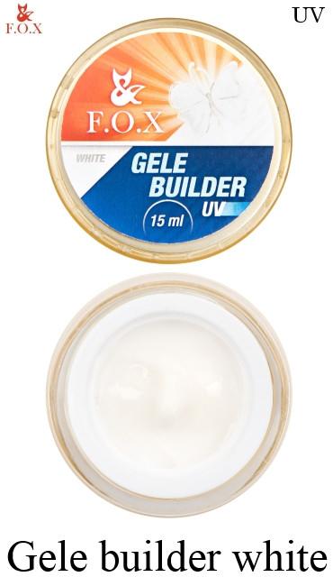 Моделирующий гель-желе F.O.X Gele builder white gel UV 15 мл