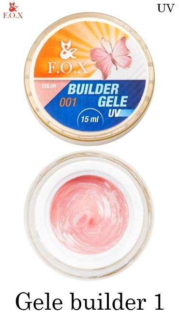 Моделирующий гель-желе №001 F.O.X Gele builder gel UV 15 мл