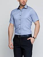 Мужская рубашка LC Waikiki с коротким рукавом голубого цвета