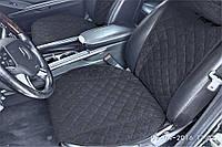 Накидки на сиденья Citroen (передние, ШИРОКИЕ, 2 ШТ., черные)