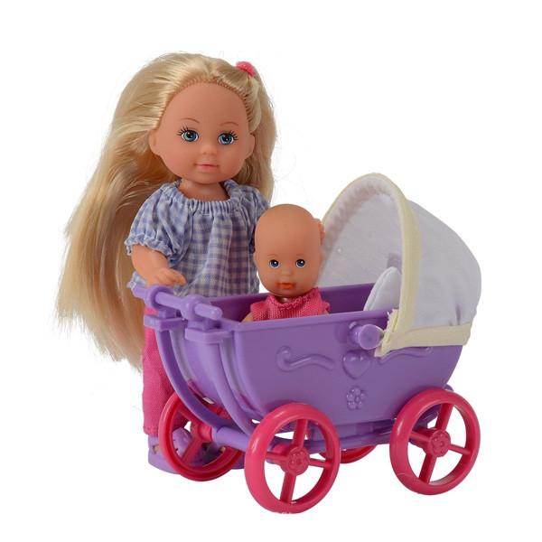Кукла  Еви с коляской сиреневой Doll Walk Evi Simba 105736241