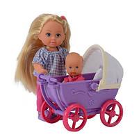 Кукла  Еви с коляской сиреневой Doll Walk Evi Simba 105736241, фото 1