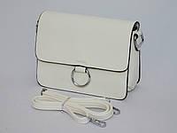 Женский клатч фурнитура серебро, цвет белый, фото 1