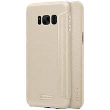 Чехол книжка Nillkin Sparkle для Samsung S8 G950 золотой