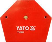 Yato угольник сварочный магнитный 111x136x24 мм 0867