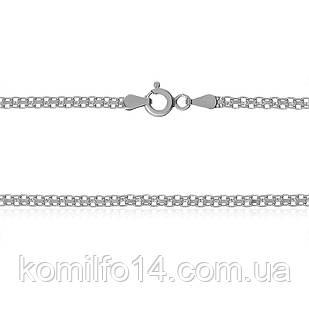 Серебряная цепь Бисмарк (двойной якорь) 45см.