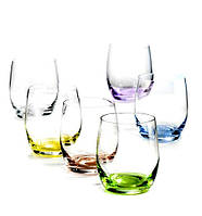 Набор стаканов Bohemia Rainbow Club 300 мл