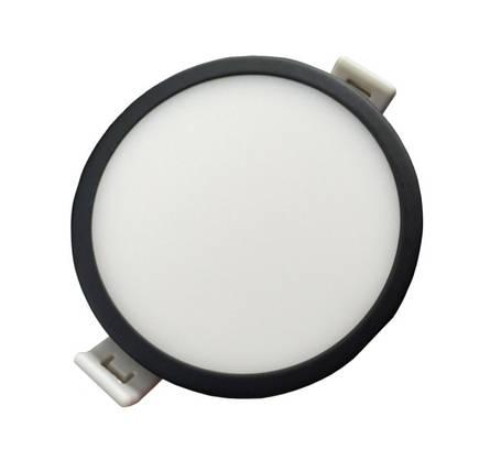 Светодиодная панель SLIM RIGHT HAUSEN HN-234012 6W 4000K круглый черный Код.57895, фото 2