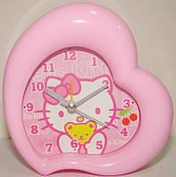 """Часы будильник детские """"Принцессы, Китти"""" 11 см"""