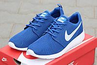 Мужские кроссовки Nike Roshe Run, сетка, голубые/  кроссовки для бега мужские Найк Роше Ран, стильные