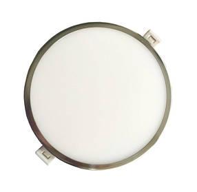 Светодиодная панель SLIM RIGHT HAUSEN HN-234018 6W 4000K круглый сатин Код.56160