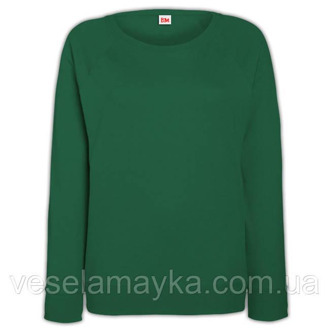 Темно-зеленый женский свитшот