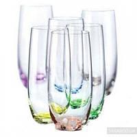 Набор стаканов Bohemia Rainbow Club 350 мл
