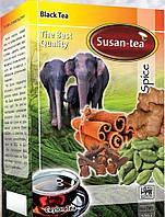 """Черный чай Susan-tea """"Специи"""" 100г"""