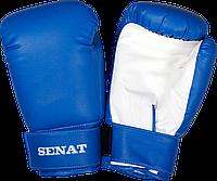 Перчатки боксерские Senat 12 унций, сине-белые, 1512-bl/wht