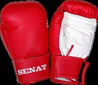 Перчатки боксерские Senat 12 унций, красно-белые, 1512-red/wht
