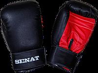 Перчатки боксерские Senat 12 унций, черно-красные, 1512-blk/red