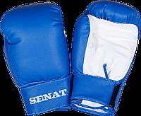 Перчатки боксерские Senat 6 унций, сине-белые, 1543-bl/wht