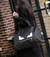 Спортивная/дорожная сумка со злимы глазками. Хорошее качество. Оригинальный дизайн. Унисекс. Код: КДН1749