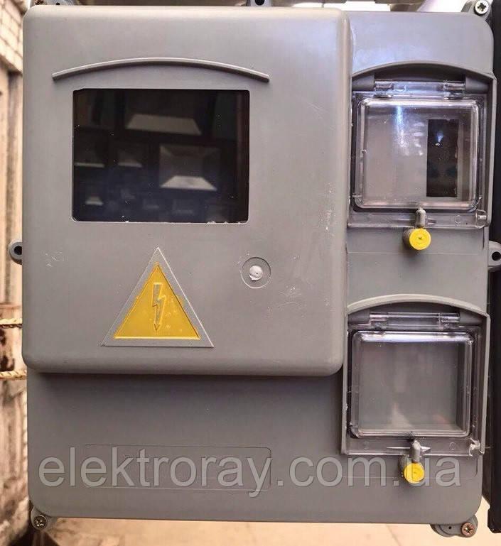 Щит пластиковый навесной для 1-3-фазного счетчика КДЗУ - ЭлектроРай в Харькове