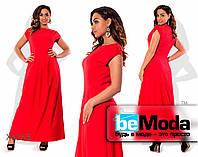 Длинное элегантное праздничное платье красное