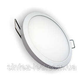 Светодиодная панель SLIM RIGHT HAUSEN HN-234040 24W 4000K круглый белый Код.57880