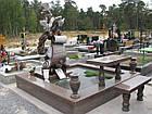 """Уникальная скульптура из гранита """"Плачущий мальчик и голуби"""", фото 2"""