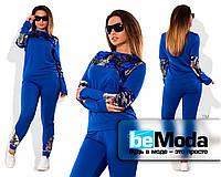 Спортивный костюм с пайетками синий