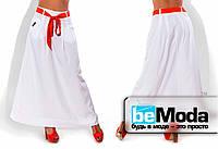 Свободная длинная юбка белая