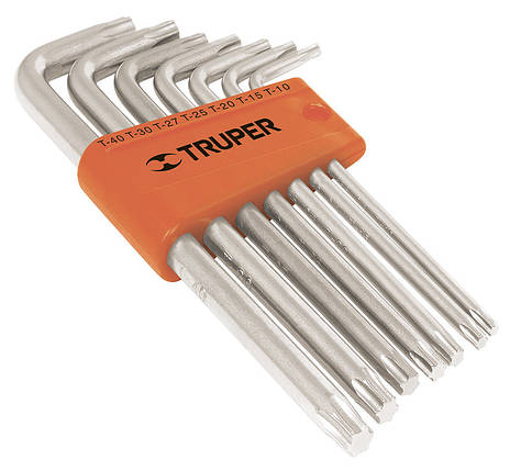 Набор ключей Torx удлиненные в пластиковой кассете, 7шт. Truper, фото 2