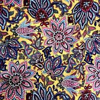 Ткань коттон набивной легкий (Хризантема)
