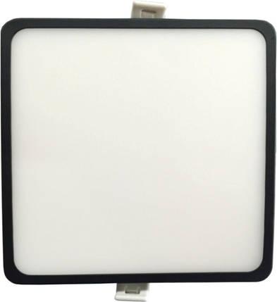 Светодиодная панель SLIM RIGHT HAUSEN HN-235012 6W 4000K квадратный черный Код.57894, фото 2
