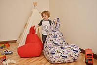 Детское кресло-мешок Зайка из хлопка для детей 5-8 лет