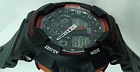 Часы наручные CASIO G-Shock GA 110 черные с оранжевым