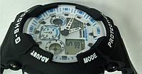 Часы наручные CASIO G-Shock GA 100 (черные с белым циферблатом)